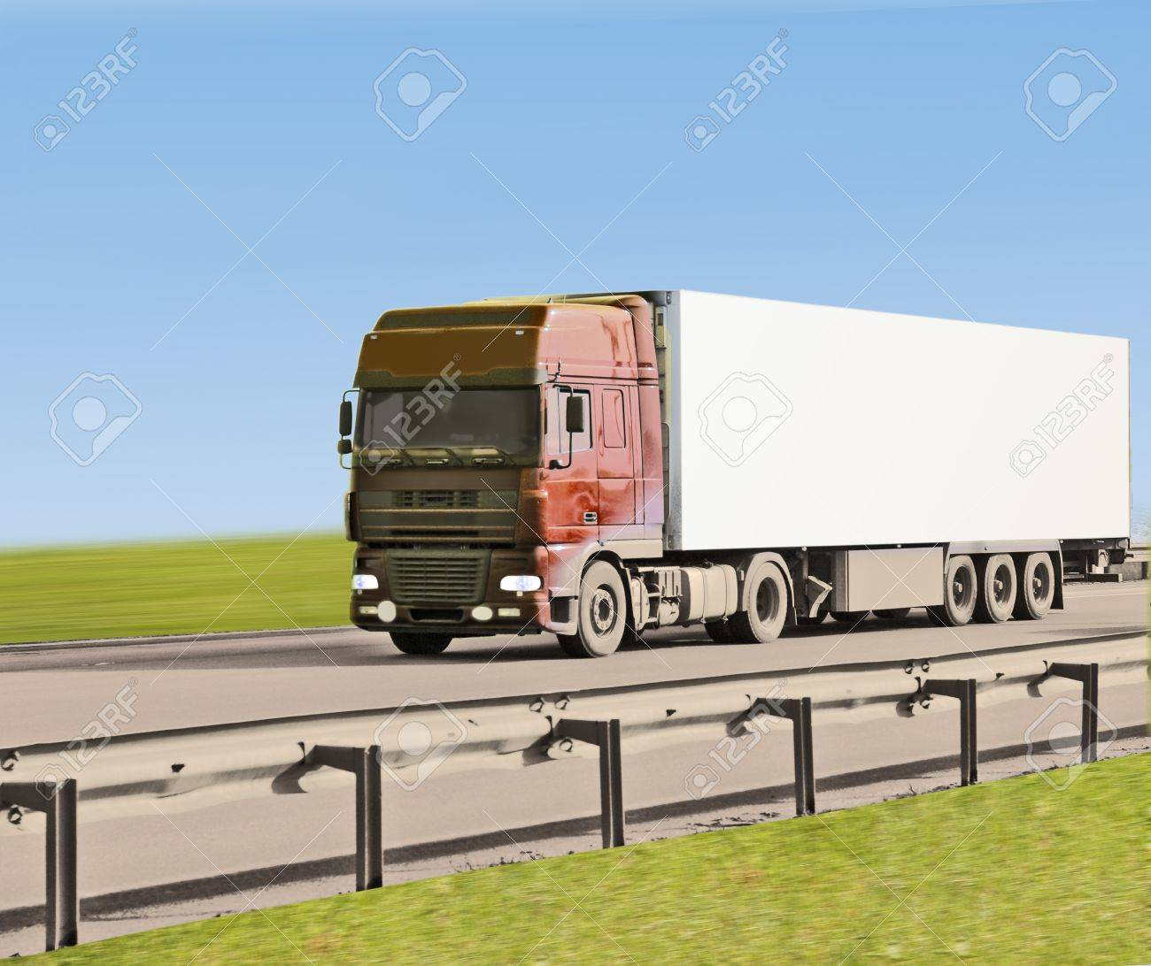 truck on road Stock Photo - 10074993