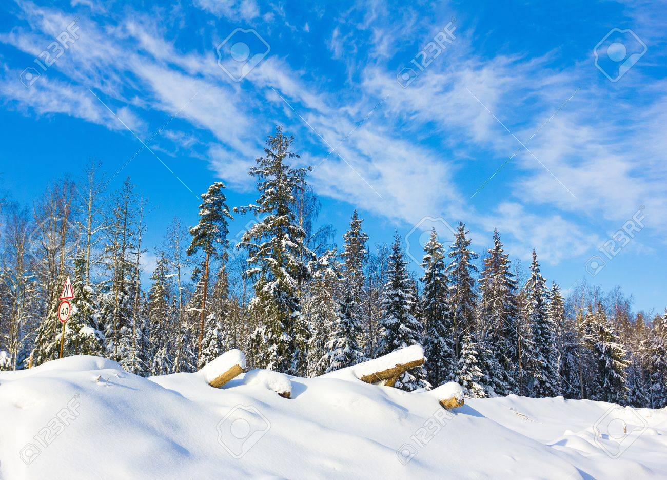 Winter Landscape with snow Stock Photo - 10664664
