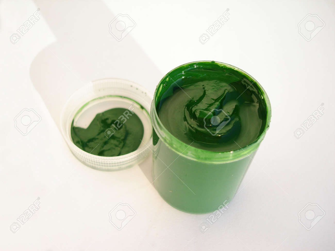 One opened paint jar with gouache Stock Photo - 522856