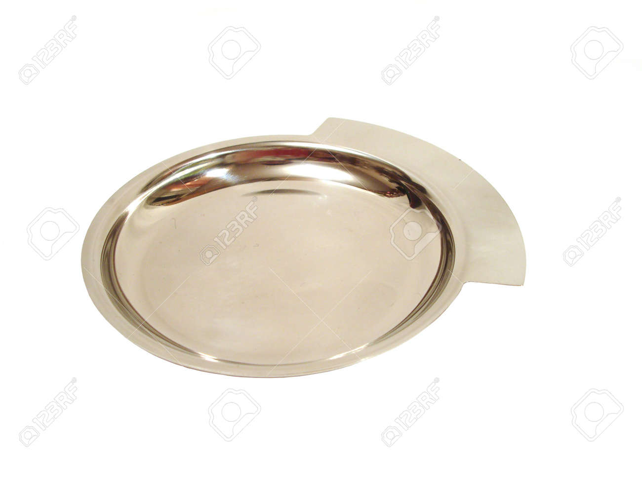silver plate over white background Stock Photo - 736435