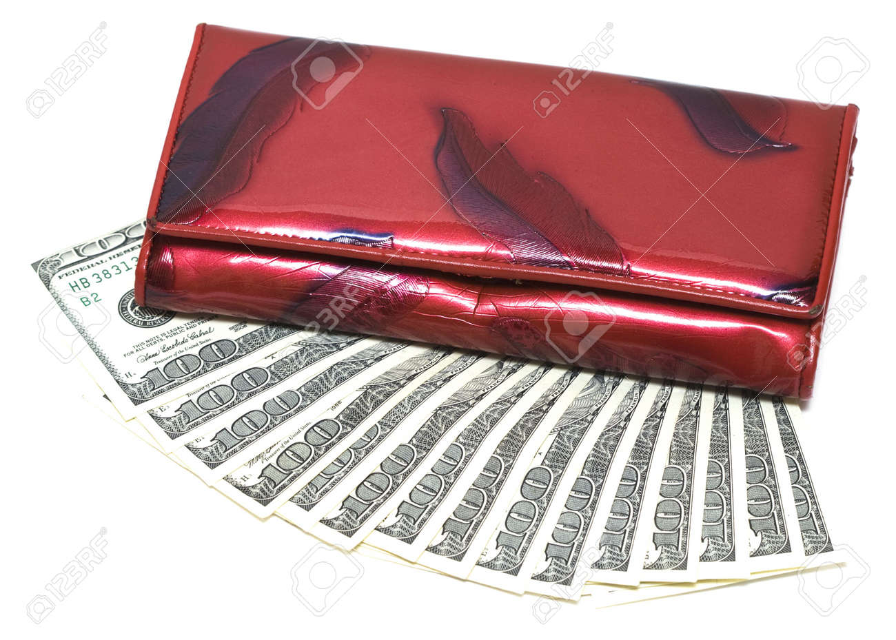 wallet with one hundred dollars Stock Photo - 2966591