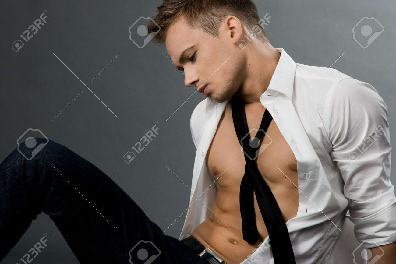 attractive businessman in white shirt Stock Photo - 7563545
