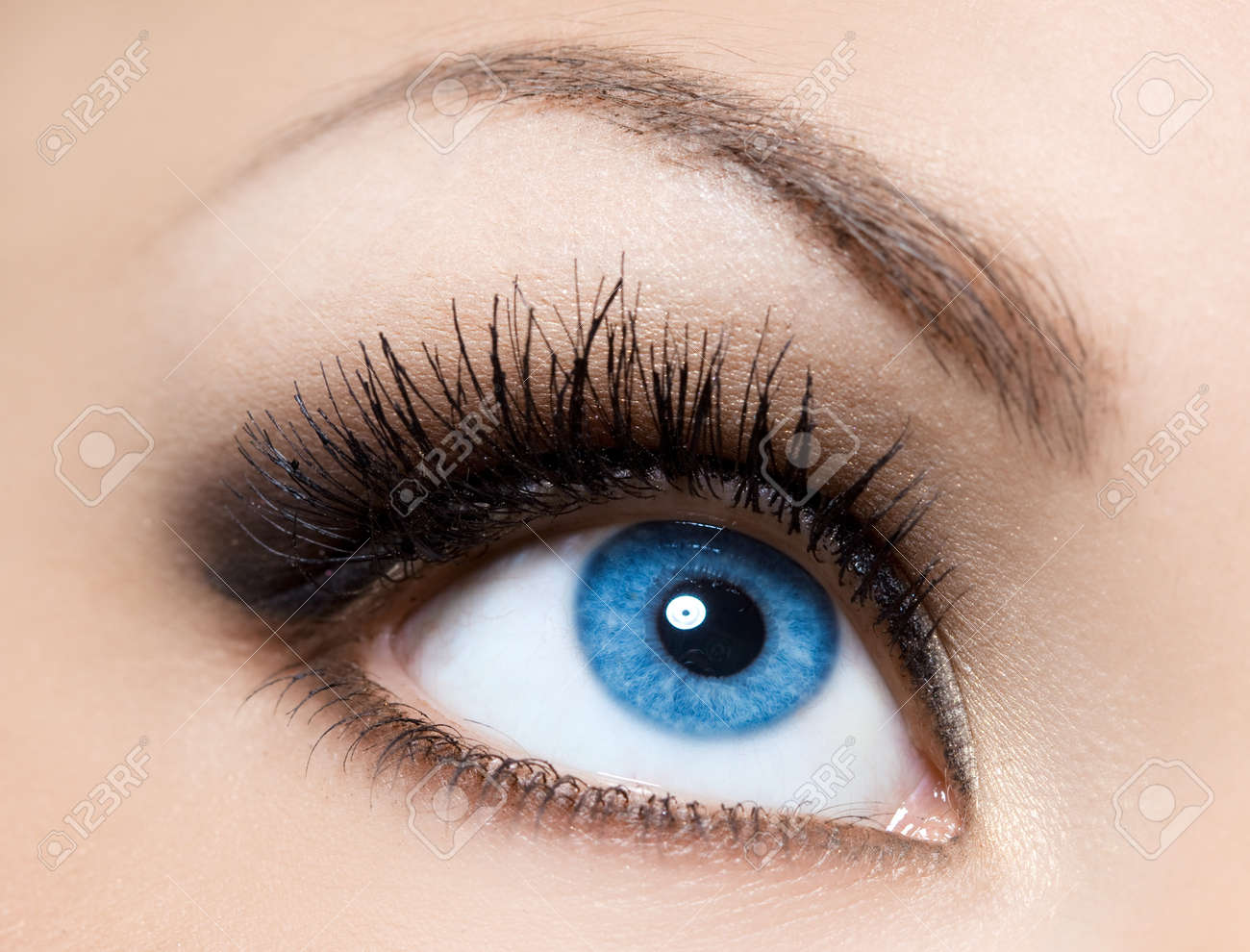 close-up of beautiful womanish eye Stock Photo - 8189775