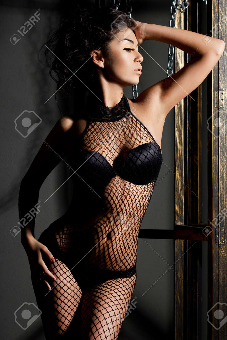 elegant fashionable woman in lingerie Stock Photo - 10966924
