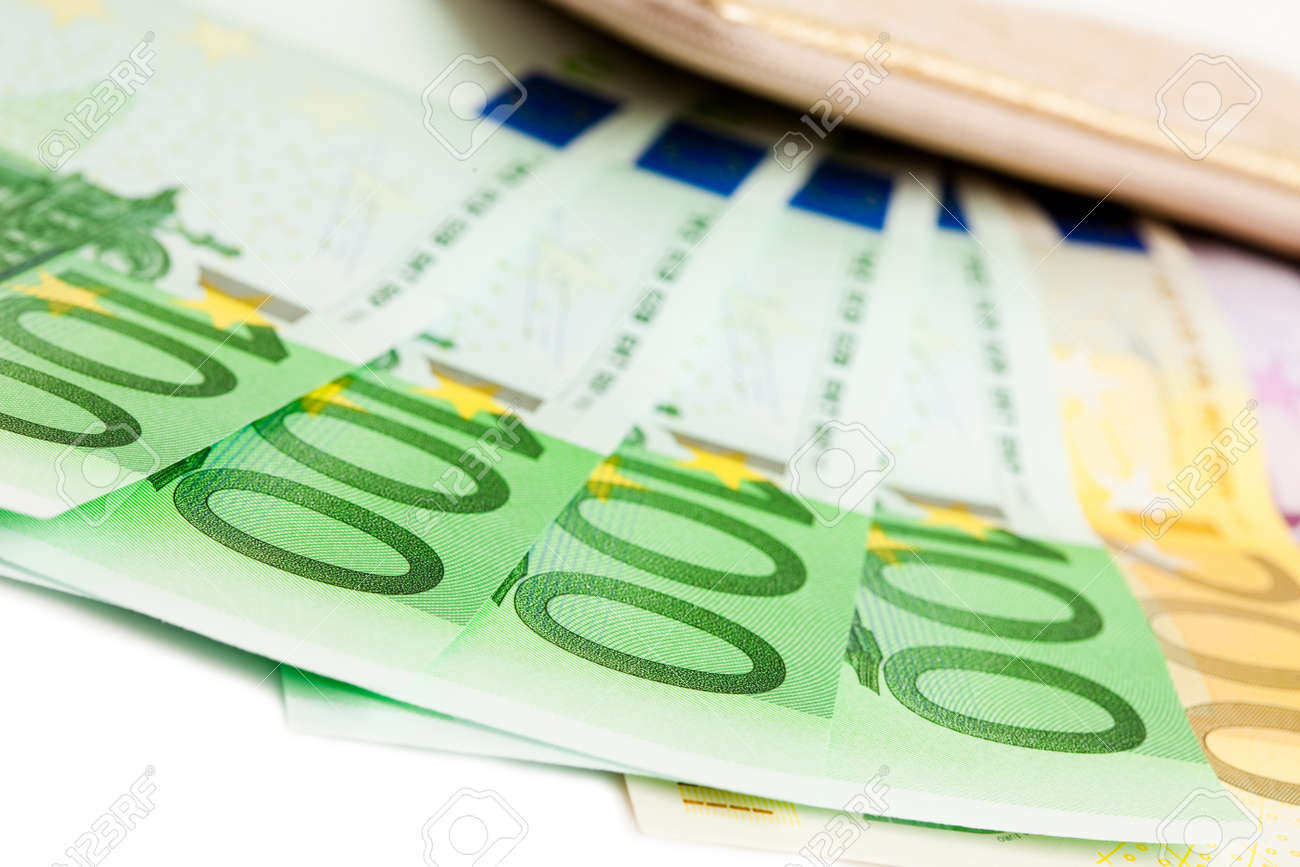 wallet with many euros isolated Stock Photo - 16786337