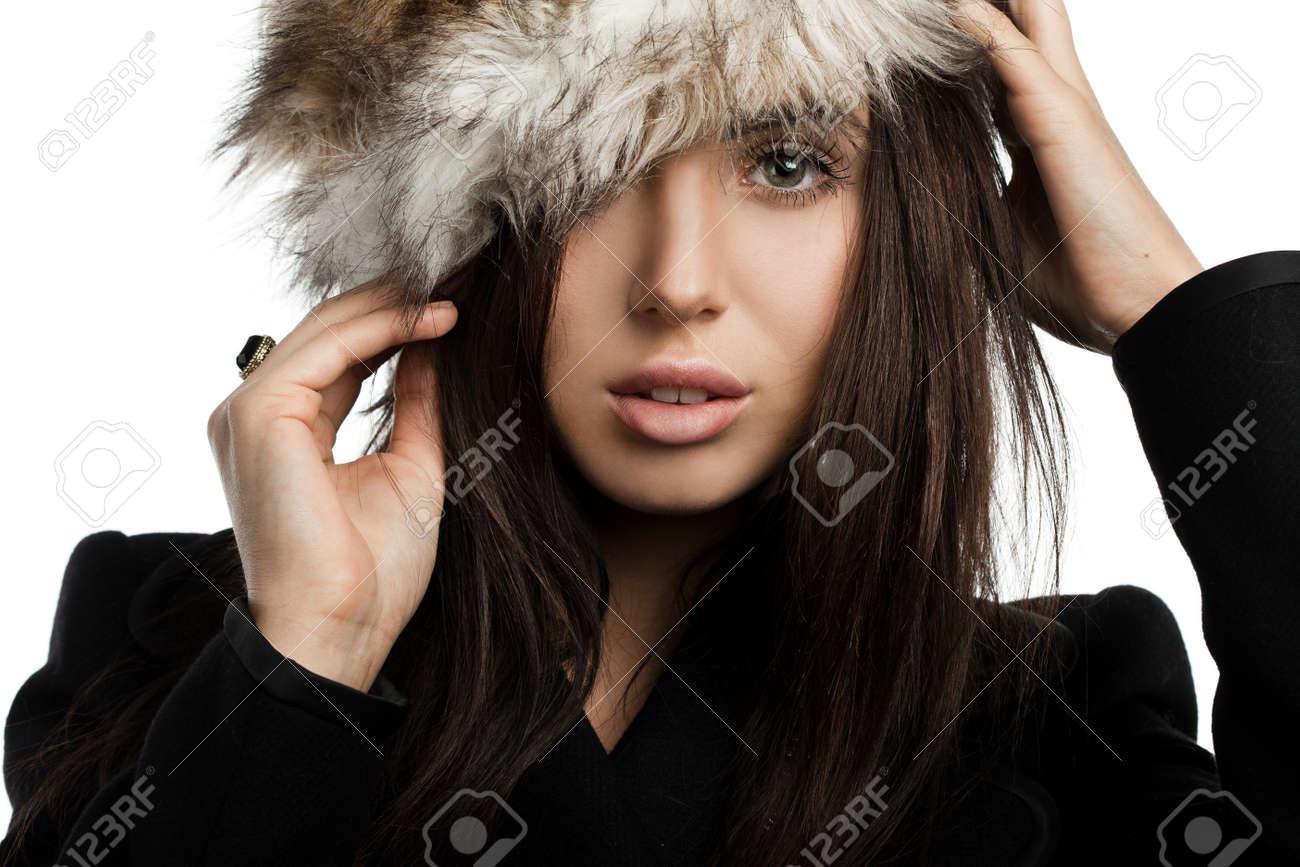 beautiful fashionable woman in coat Stock Photo - 17501649