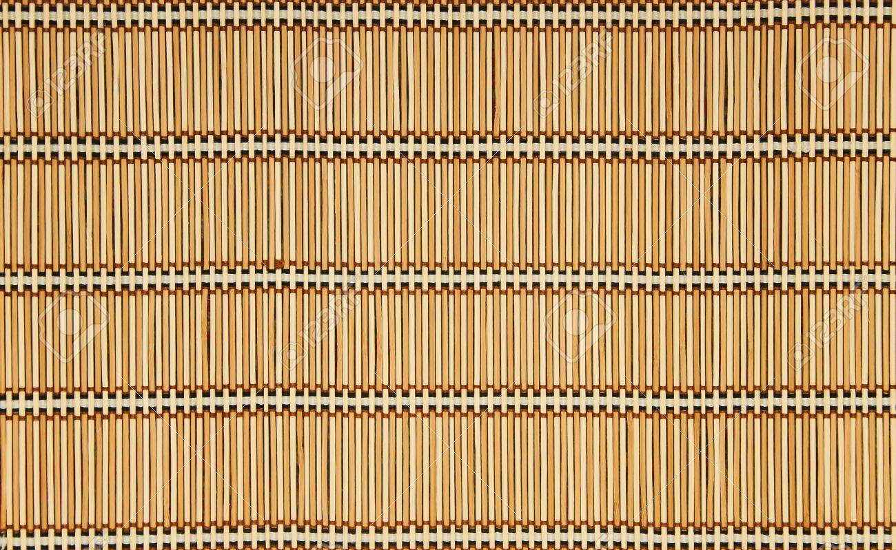 Stock Photo   Straw Rug Weaved And Tied Up By Threads