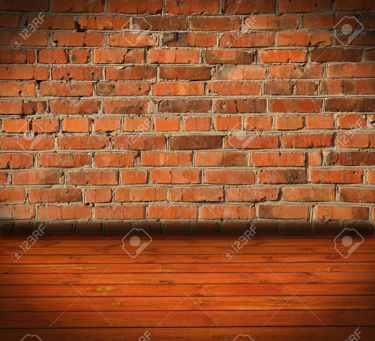 old room with a brick wall and floor Stock Photo - 8229103