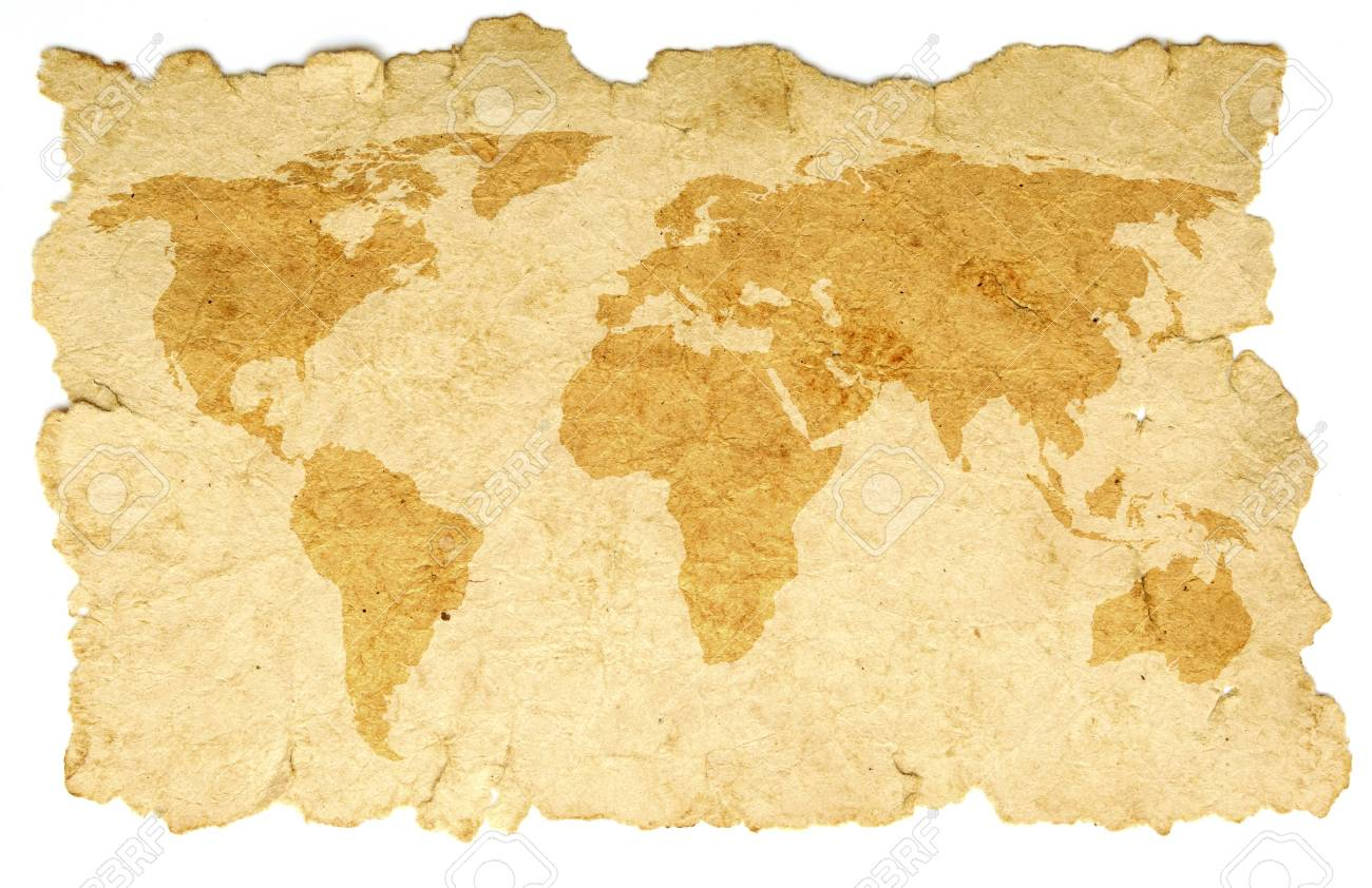 word map on old paper Stock Photo - 8993308