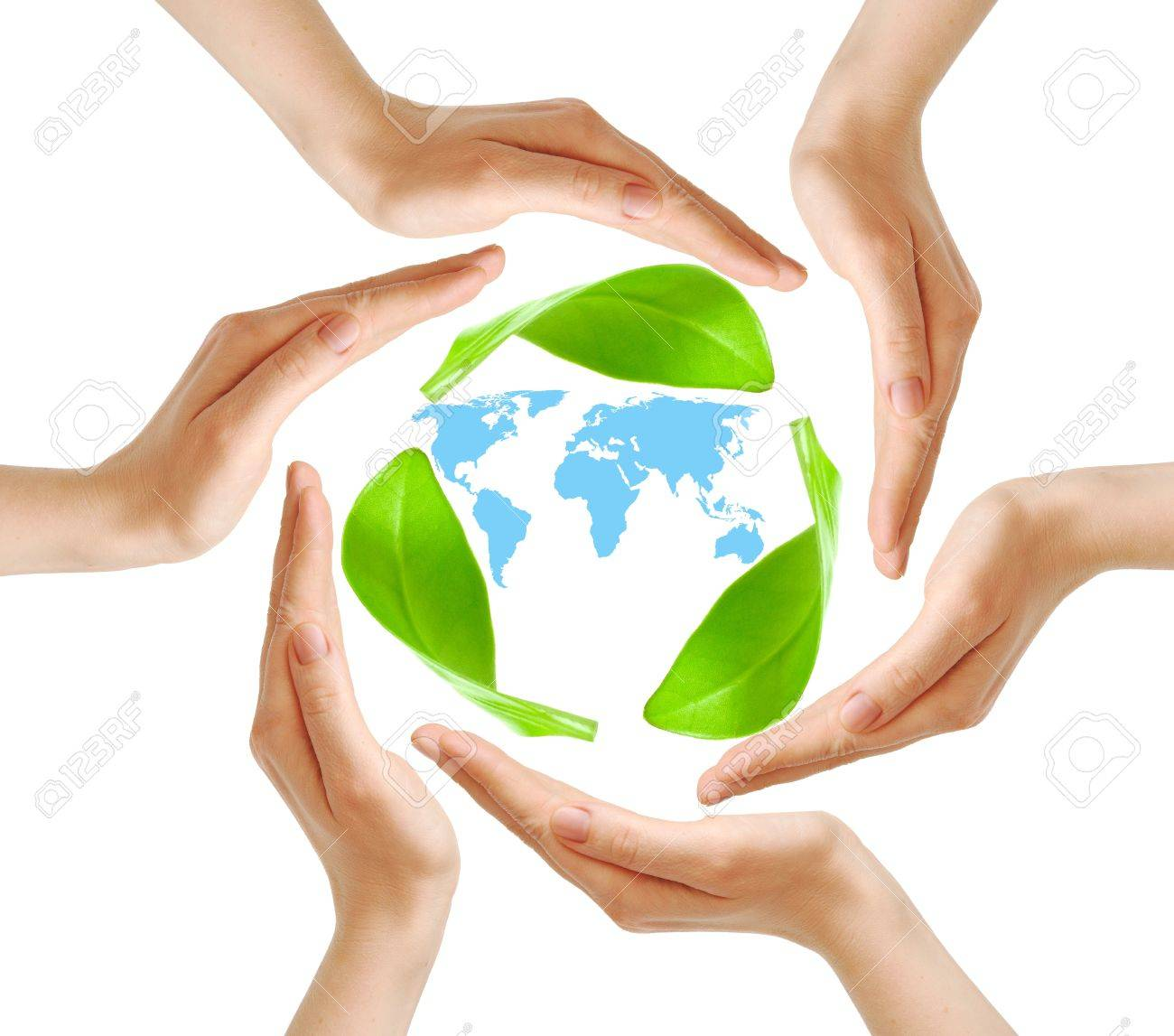 Conceptual safety symbol made from hands over world map Stock Photo - 9331024