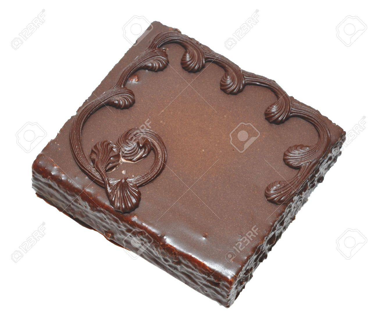 chocolate cake on a white background Stock Photo - 10365928