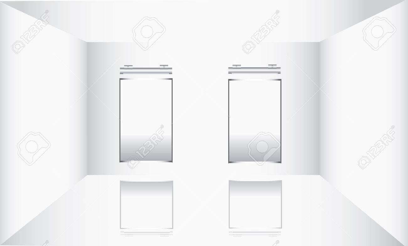 White frame in art gallery . Stock Vector - 10932751