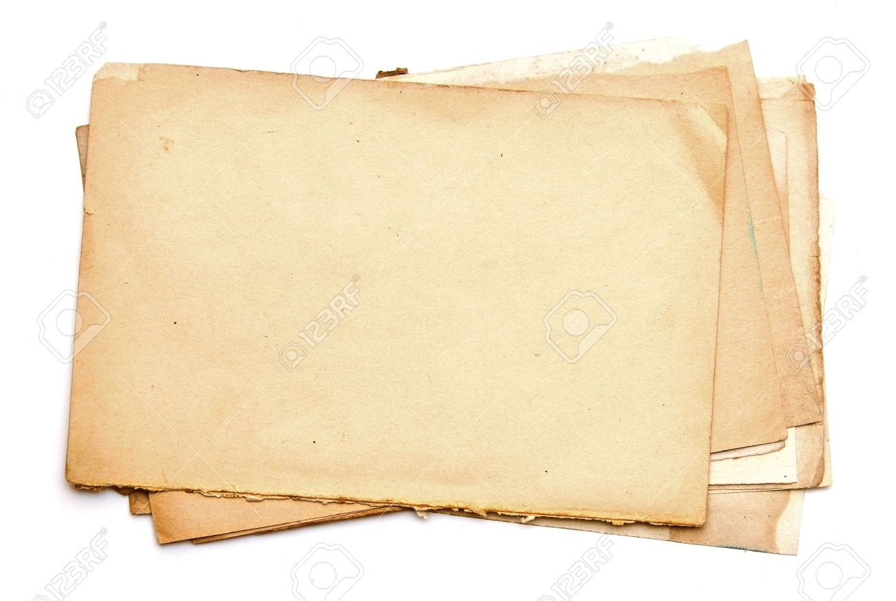 Stock Photo Old Paper Sheets