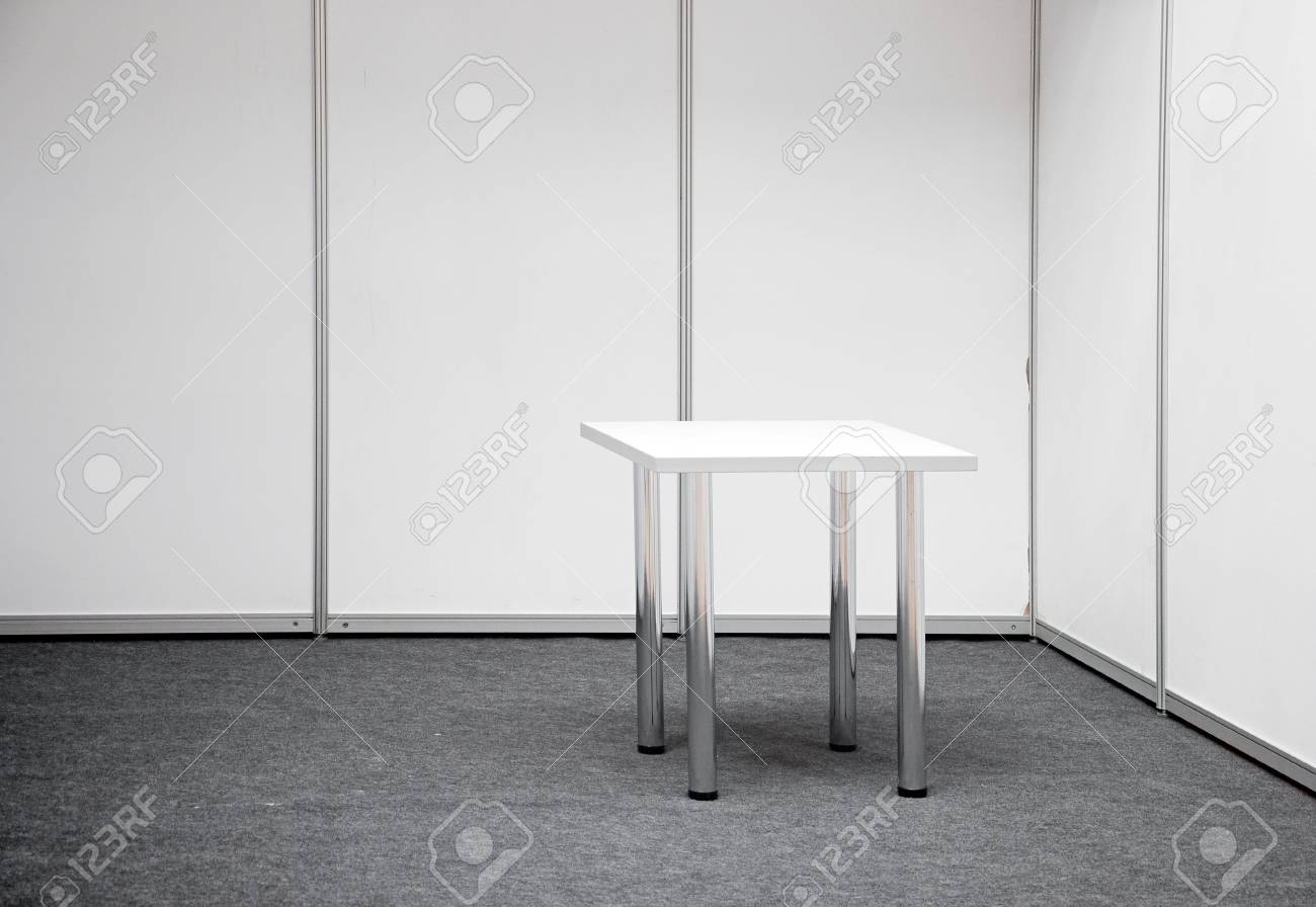 Exhibition stand with table Stock Photo - 12893072