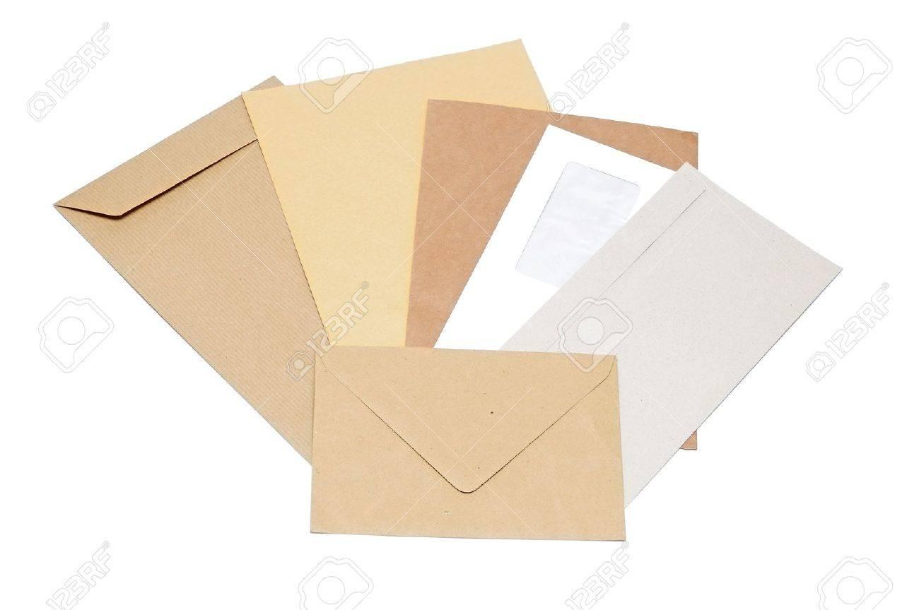 stack of mail envelopes on white background Stock Photo - 13211560