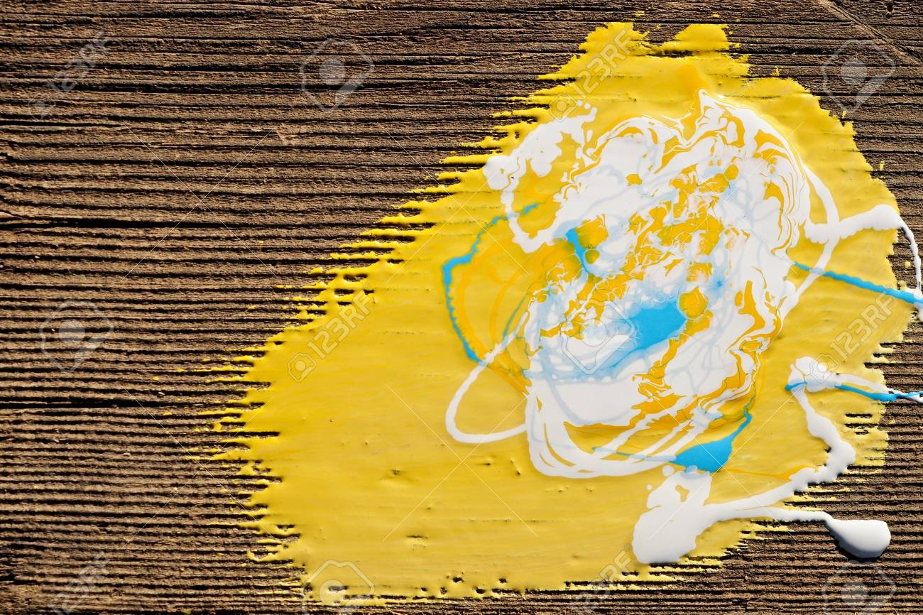 Paint on old wooden background Stock Photo - 13773867