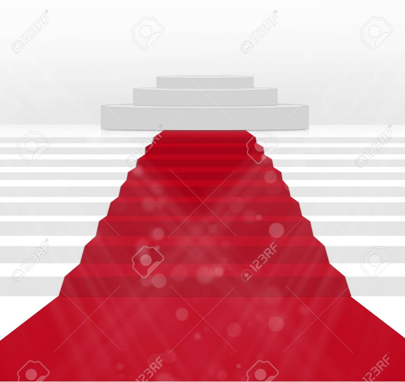 Stairs covered with red carpet Stock Photo - 14804582