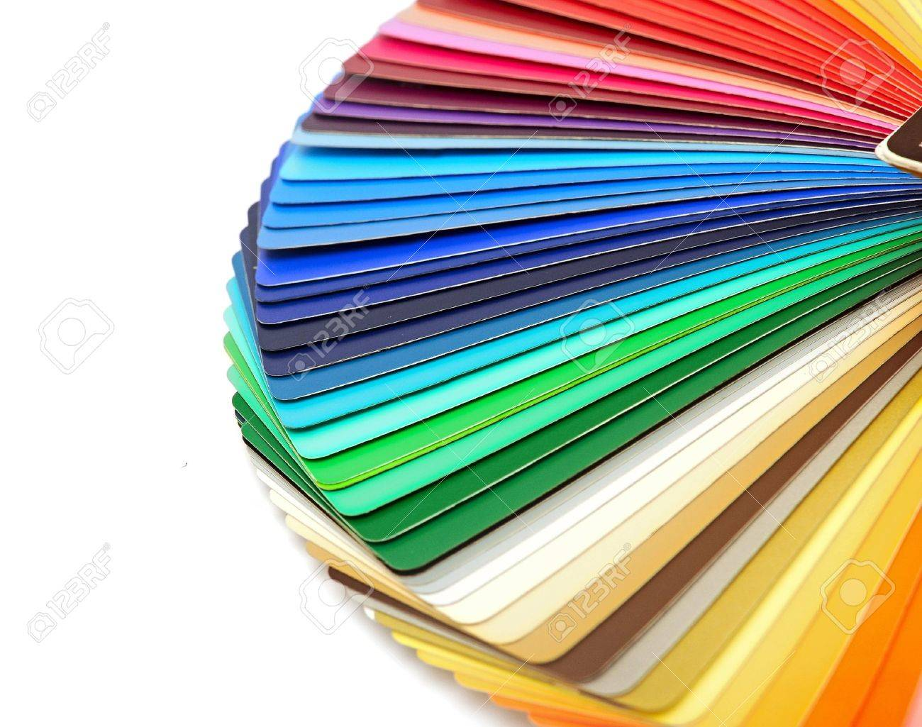 Color chart rainbow - Color Guide Spectrum Swatch Samples Rainbow On White Background Stock Photo 15387423