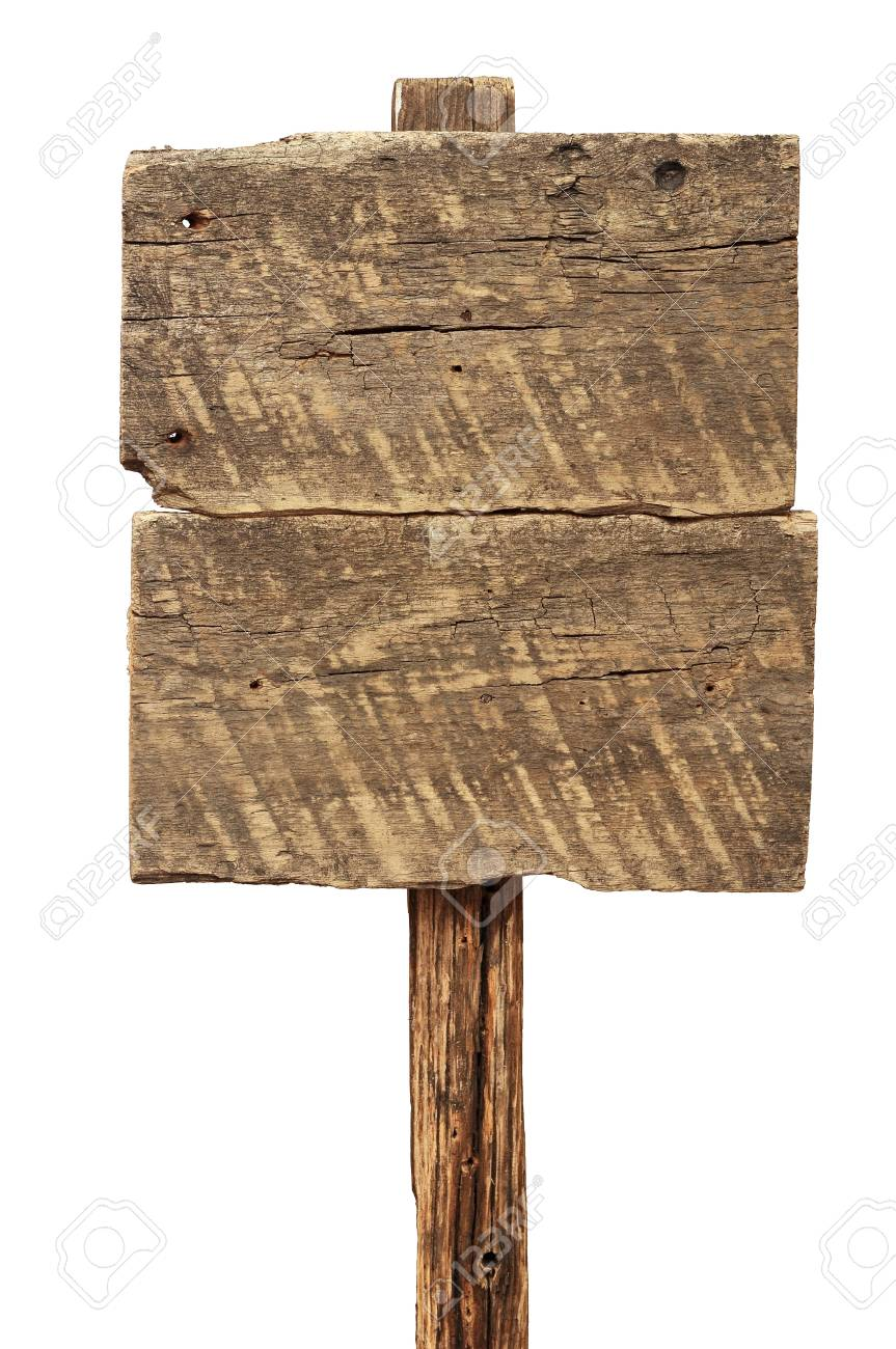 wooden signboard isolated on white Stock Photo - 16664126