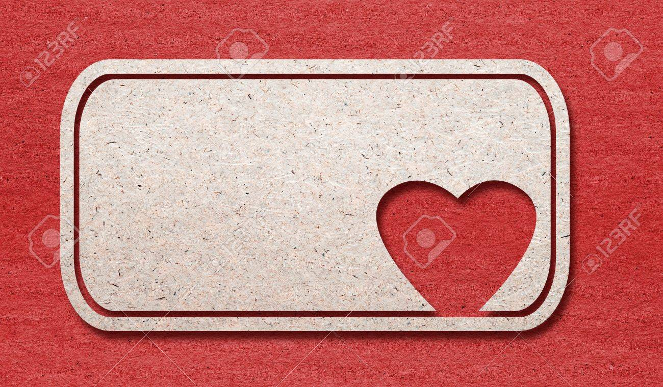 Holiday Card  Heart paper cutting design card Stock Photo - 17668033