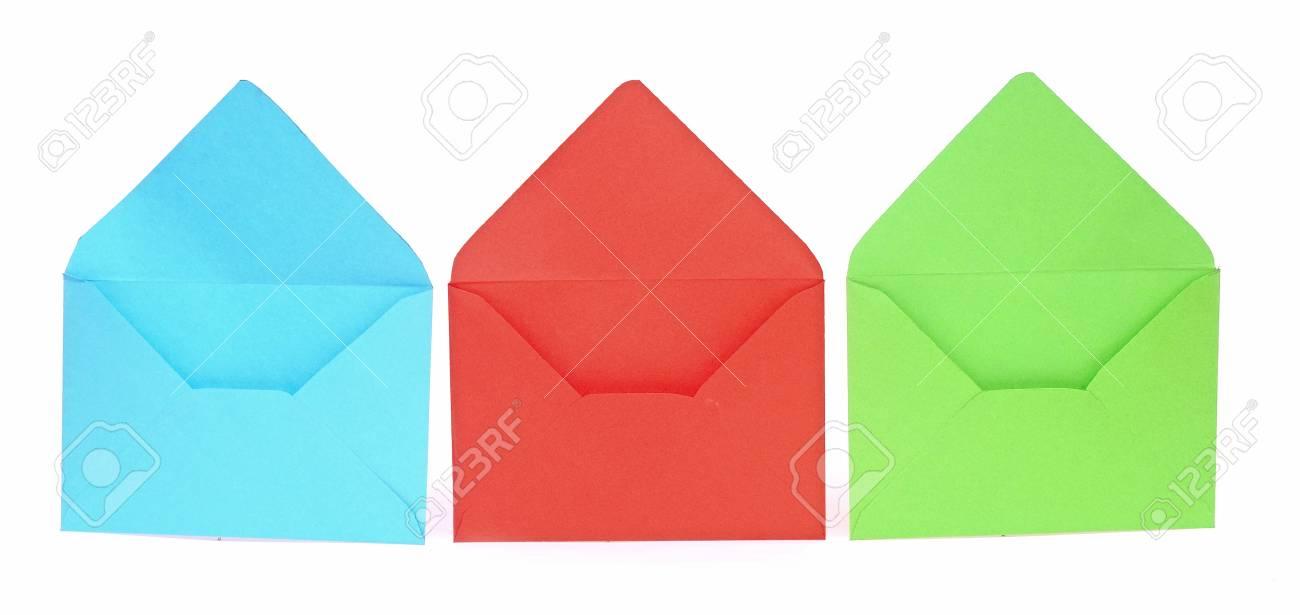 Assorted open envelopes isolated on white background Stock Photo - 17783952