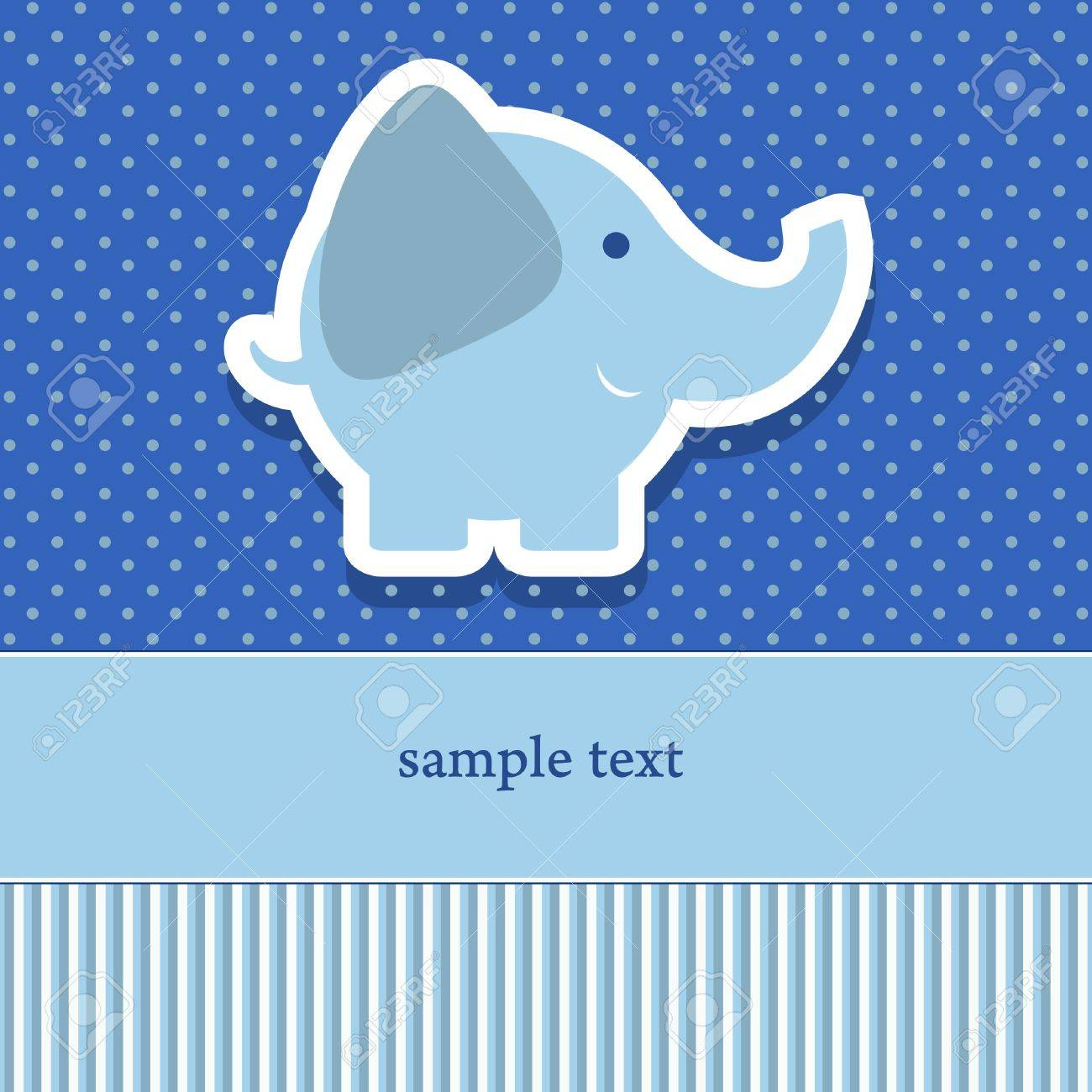 baby shower invitation template  illustration  Cute elephant Stock Vector - 18781817