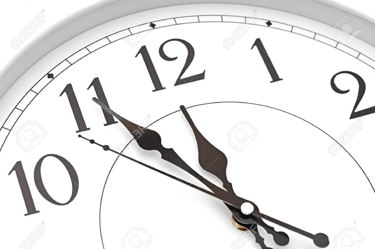 wall clock five minutes to twelve Stock Photo - 20073406