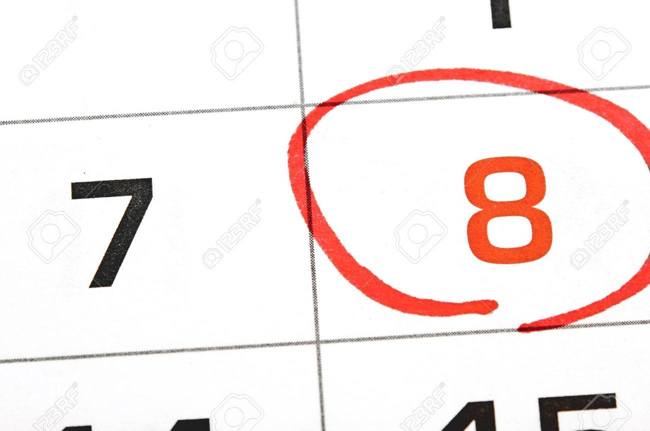 Calendar Date Circled Calendar With a Date Circled