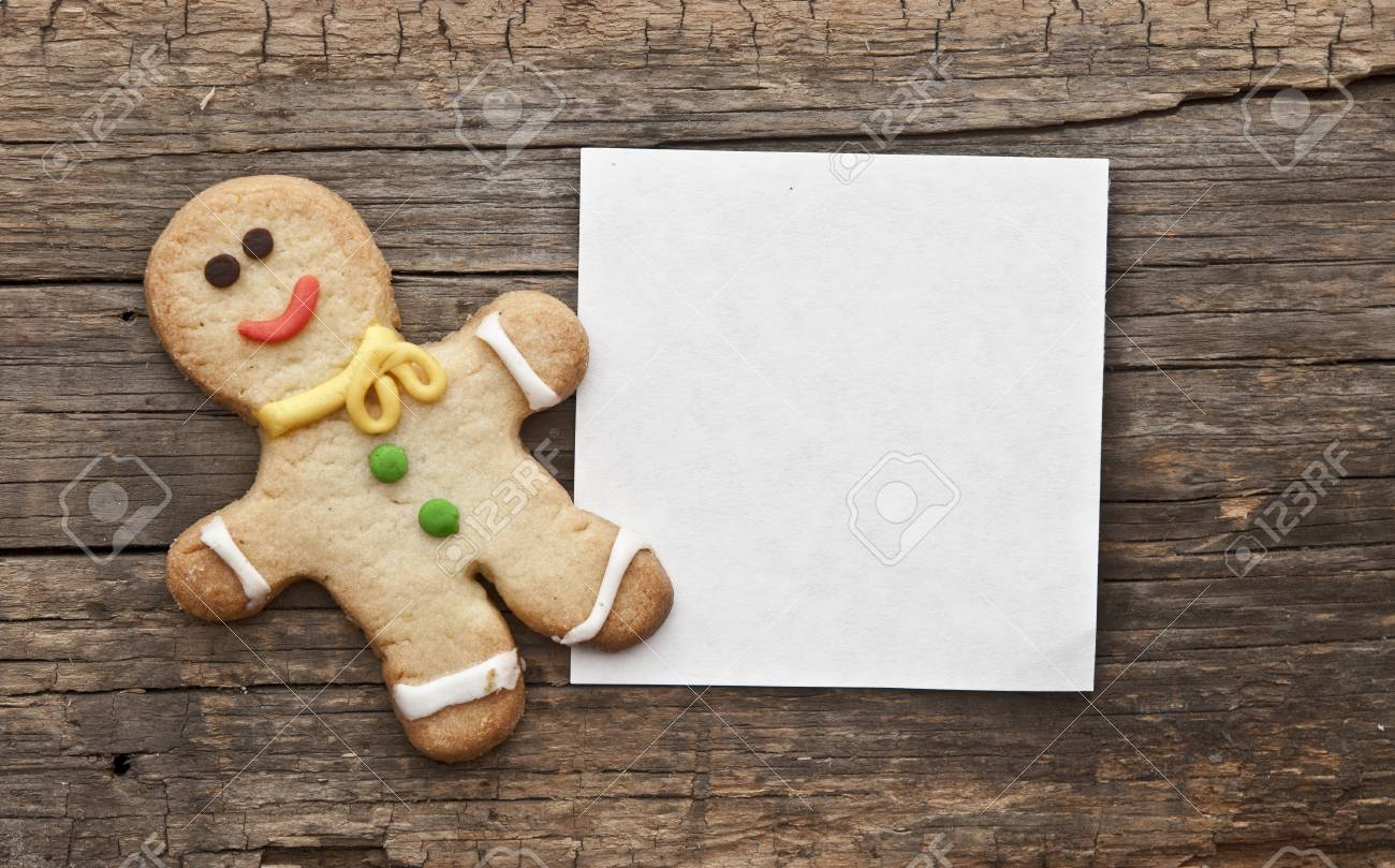 Homemade Christmas Painted Gingerbreads Gingerbread Man On