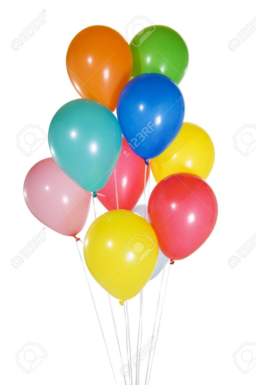 Stock image of colorfun balloons floating. Isolated on white. Stock Photo - 6386044