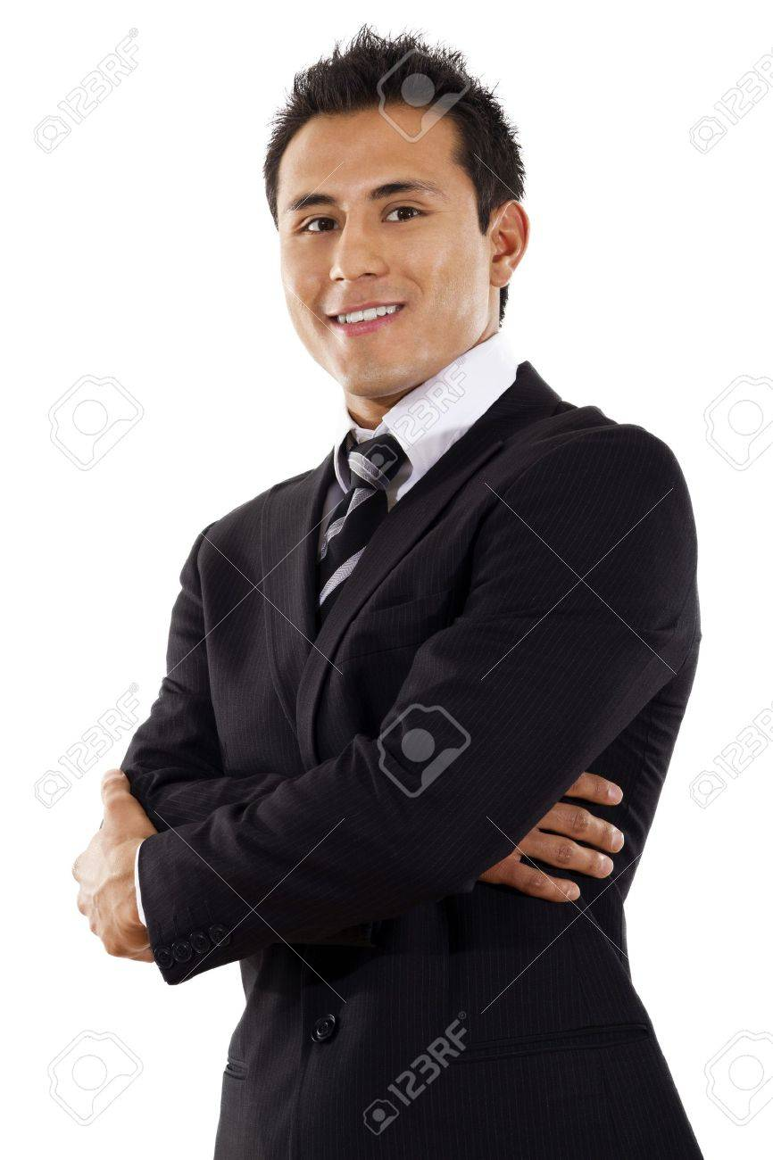 Stock image of businessman standing over white background Stock Photo - 8675919