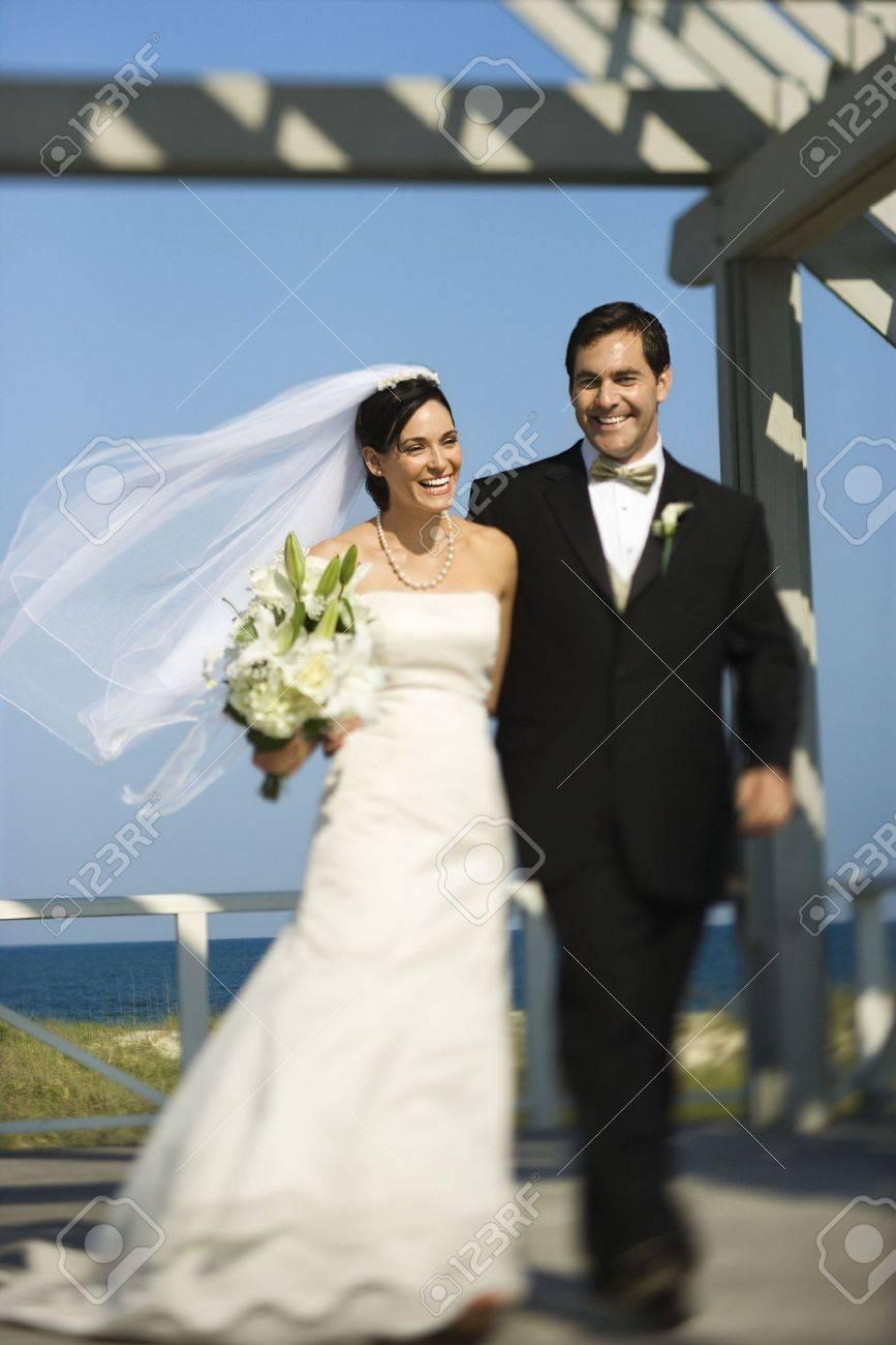 Bride and groom walking. Stock Photo - 1806689