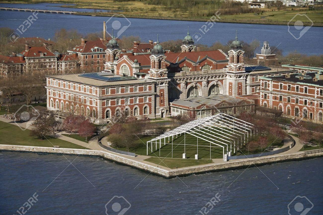 Aerial view of Ellis Island, New York City. Stock Photo - 1826629