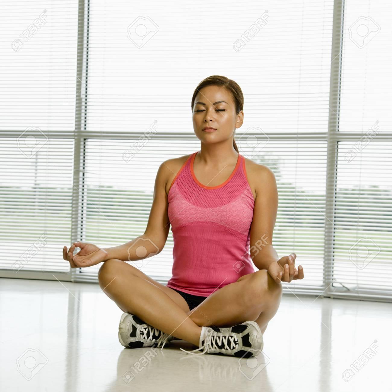 Woman meditating. Stock Photo - 1850335
