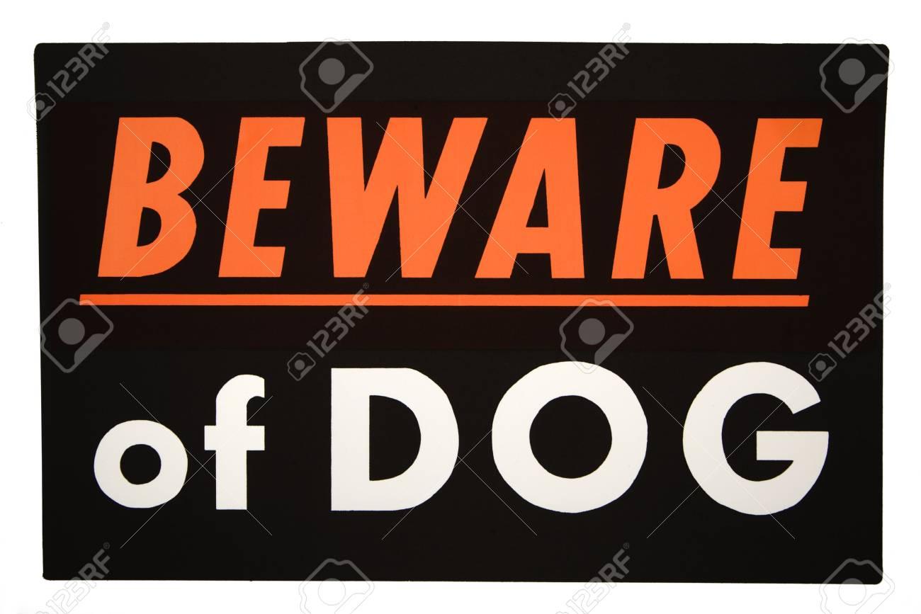 Beware of dog sign. Stock Photo - 2043913