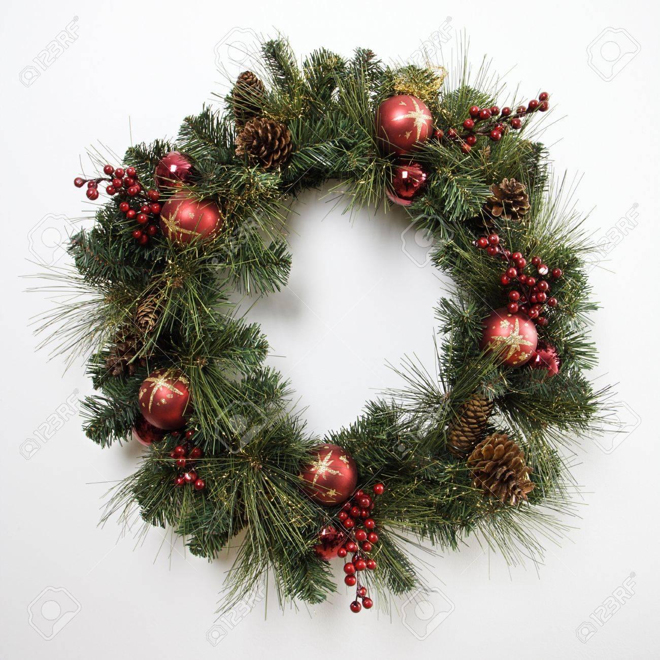 Still life of Christmas wreath. Stock Photo - 2175947