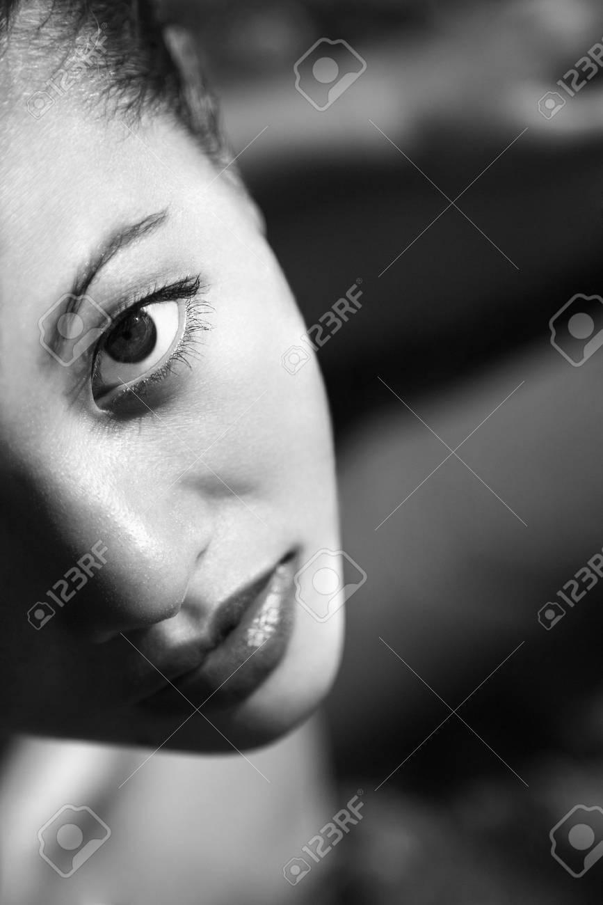Close up of Filipino young woman looking at viewer. Stock Photo - 2189351