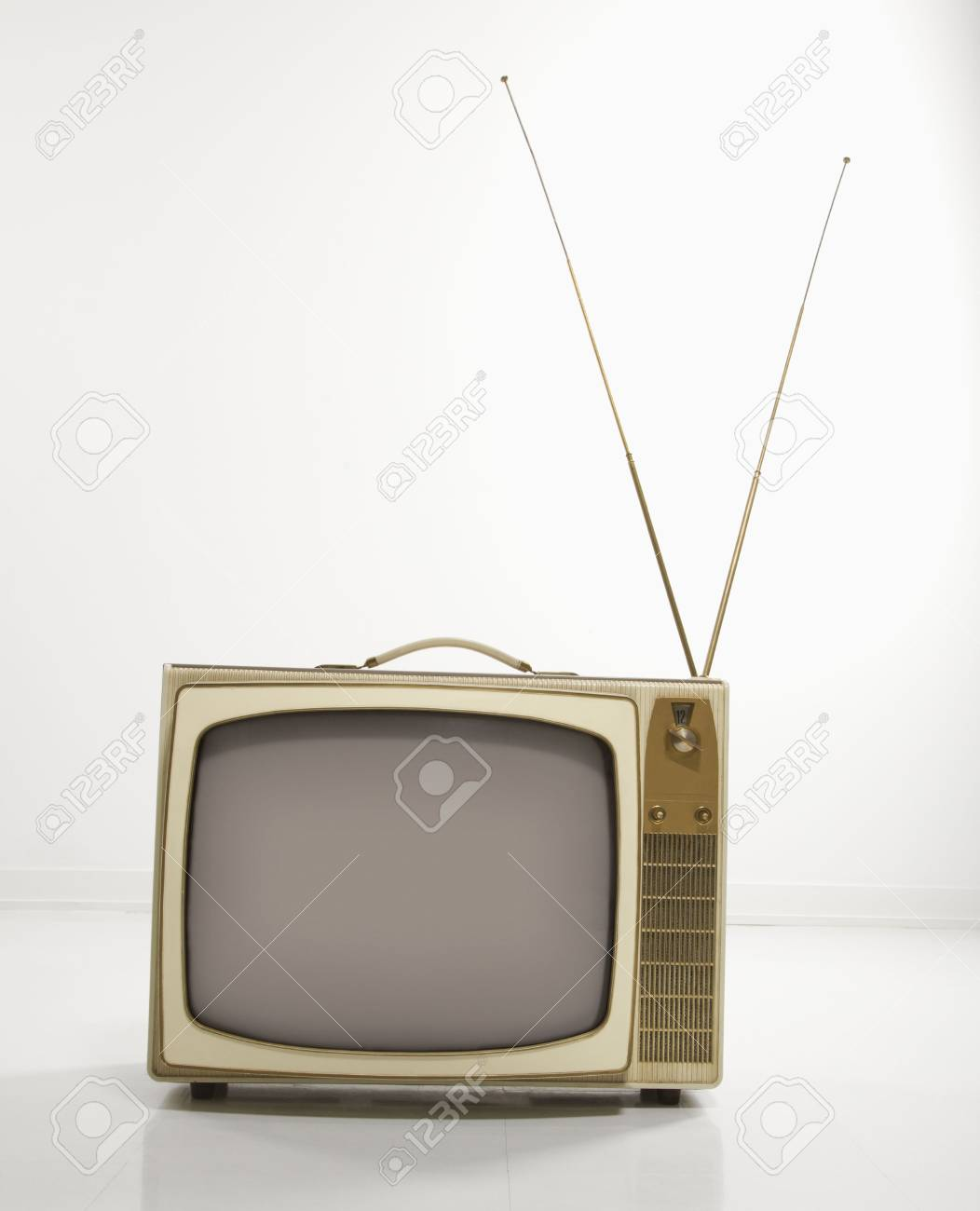 Still life studio shot of retro television. Stock Photo - 2204793