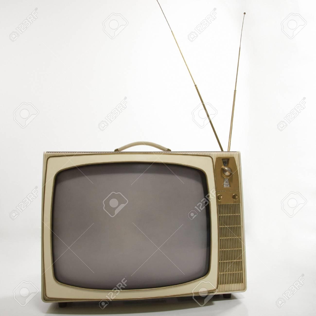 Still life studio shot of retro television. Stock Photo - 2205401