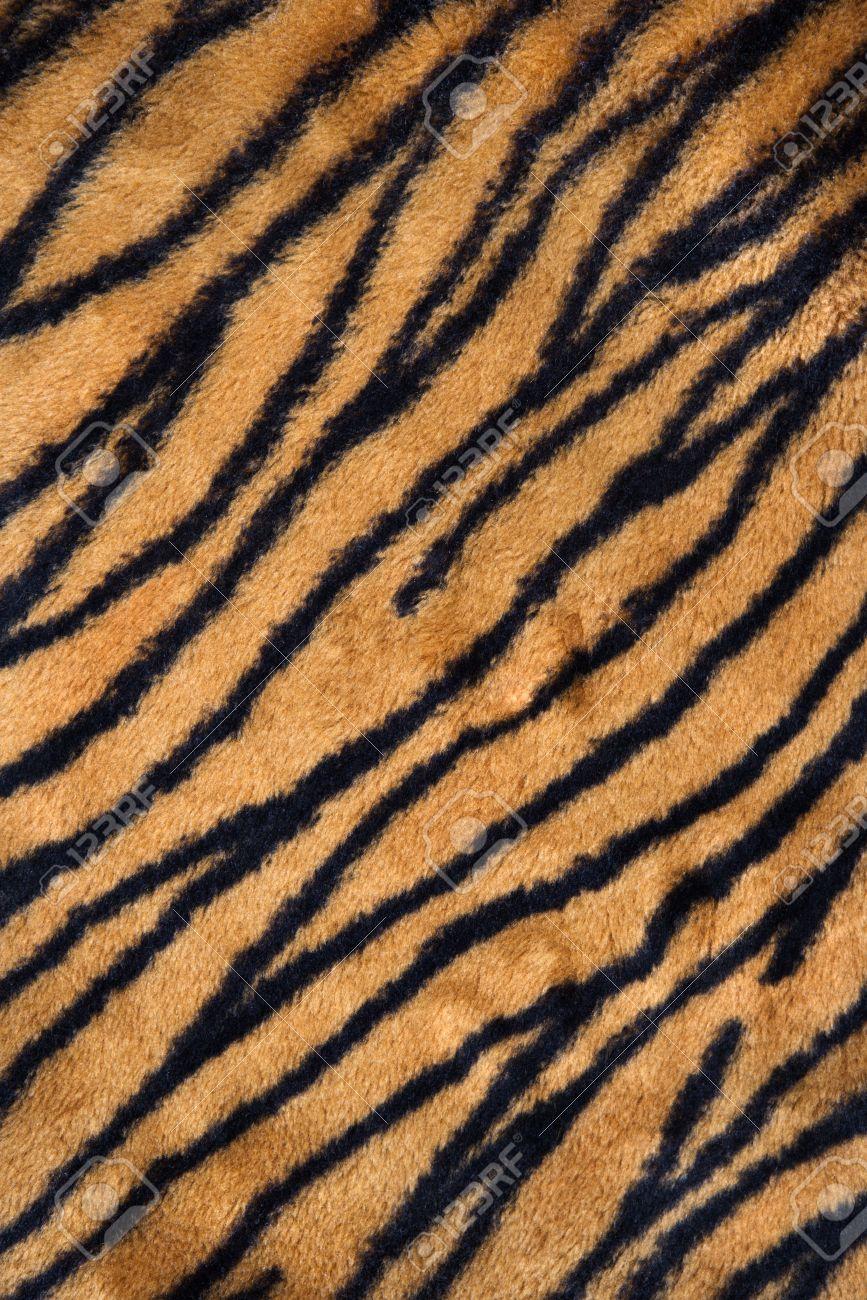 Close up shot of tiger print carpet