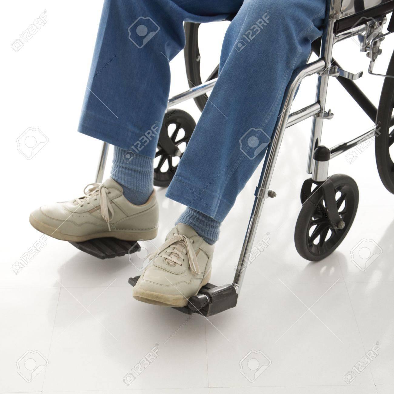 Legs and feet of elderly man sitting in wheelchair. Stock Photo - 2245957