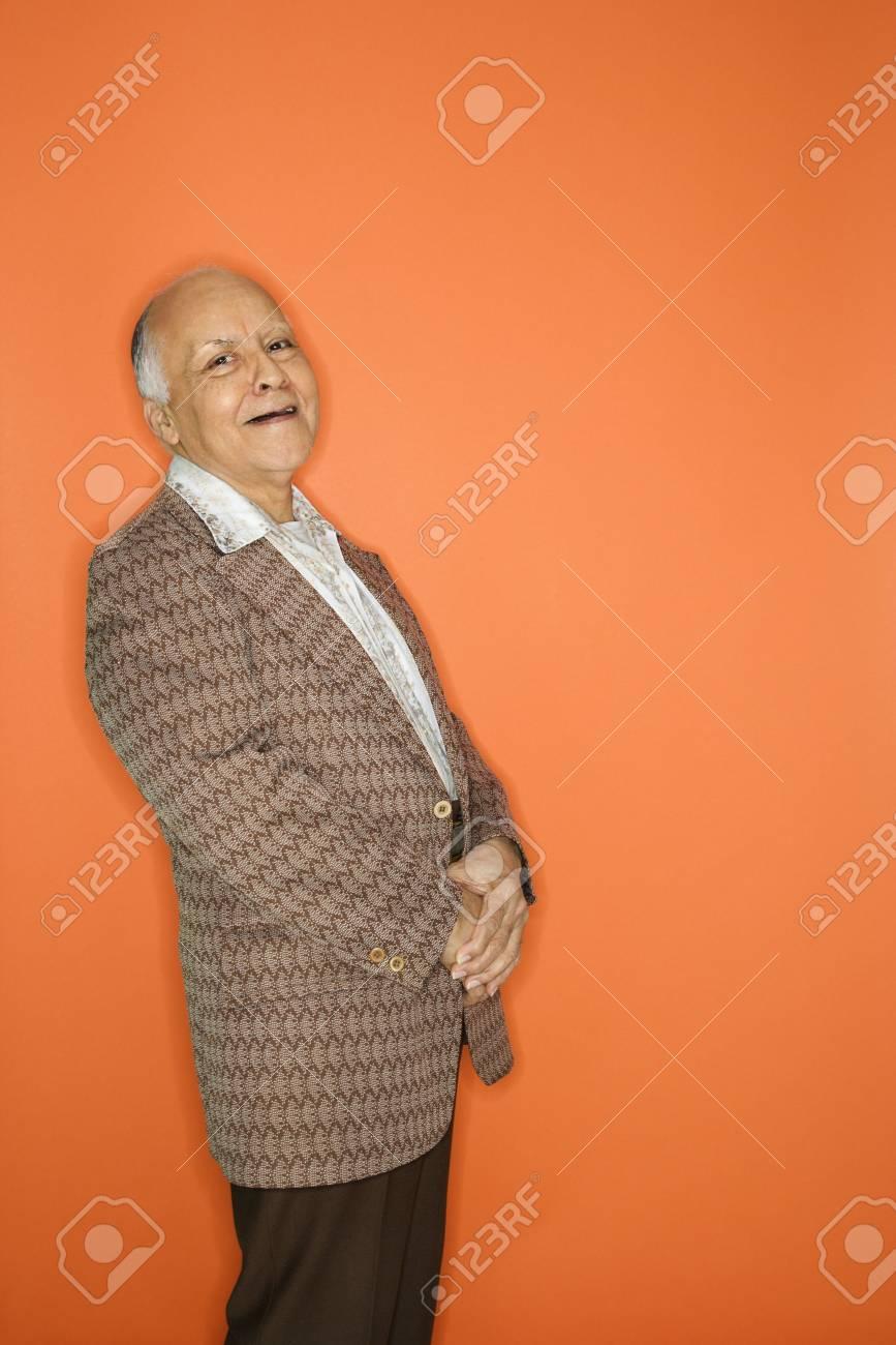 Caucasian adult mature male in retro suit. Stock Photo - 2376440