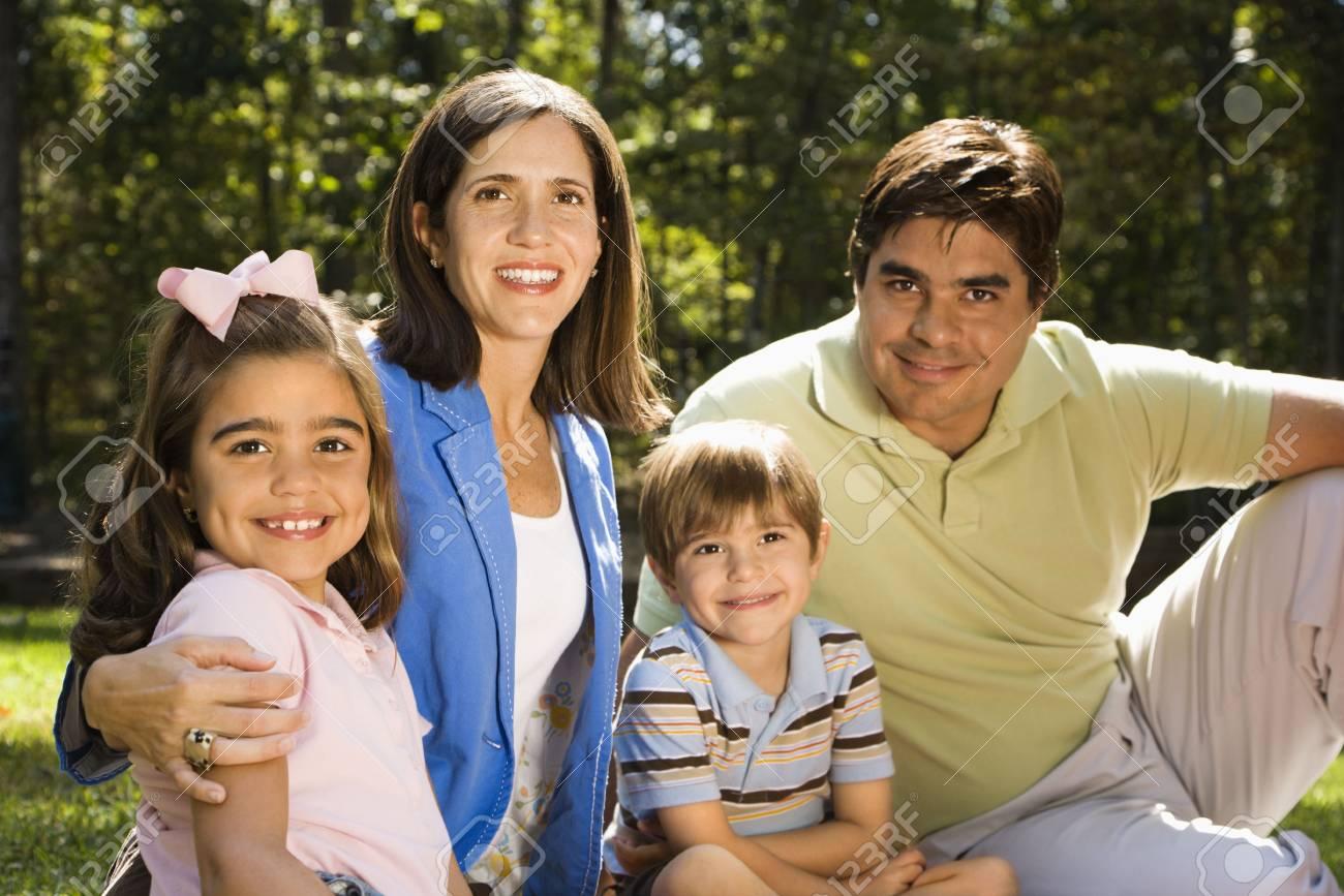 Hispanic outdoor family portrait. Stock Photo - 2555867