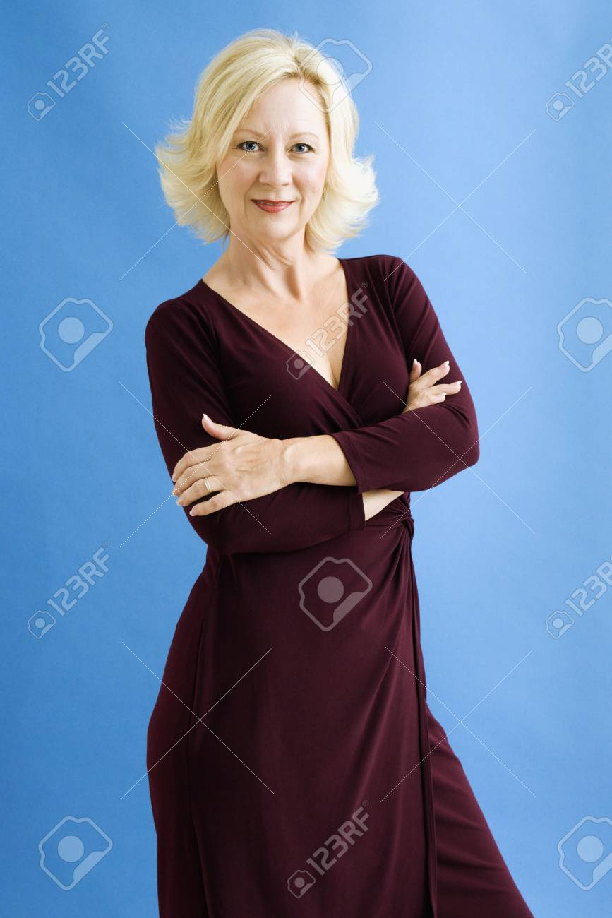 Studio portrait of attractive adult businesswoman looking at viewer. Stock Photo - 3557449
