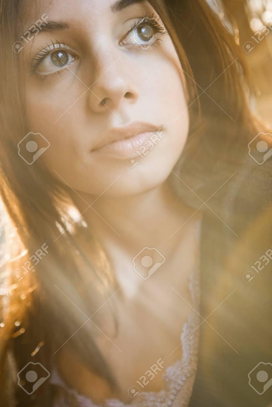 Portrait of pretty young Caucasian woman. Stock Photo - 6924756