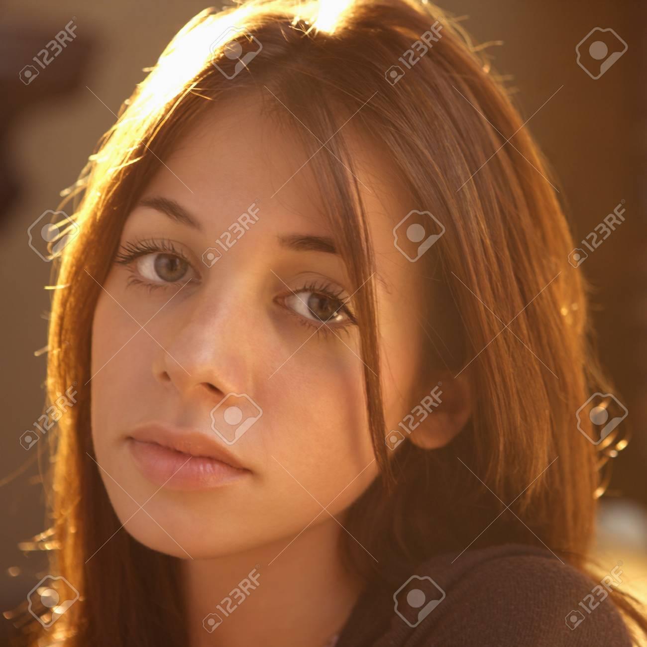 Portrait of pretty young Caucasian woman. Stock Photo - 6924733
