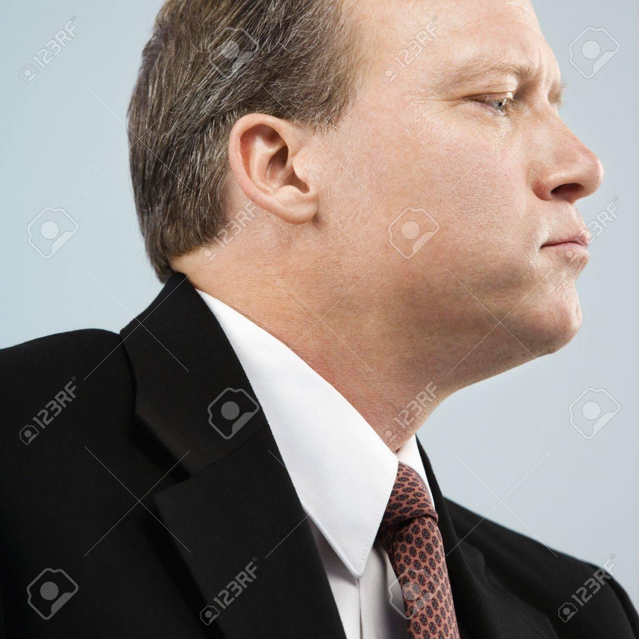 Caucasian middle aged businessman profile portrait. Stock Photo - 6924783