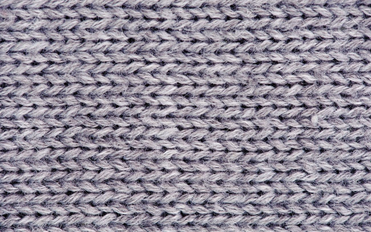 208de2950 Close-up Of Knitted Wool Texture. Gray Stock Photo