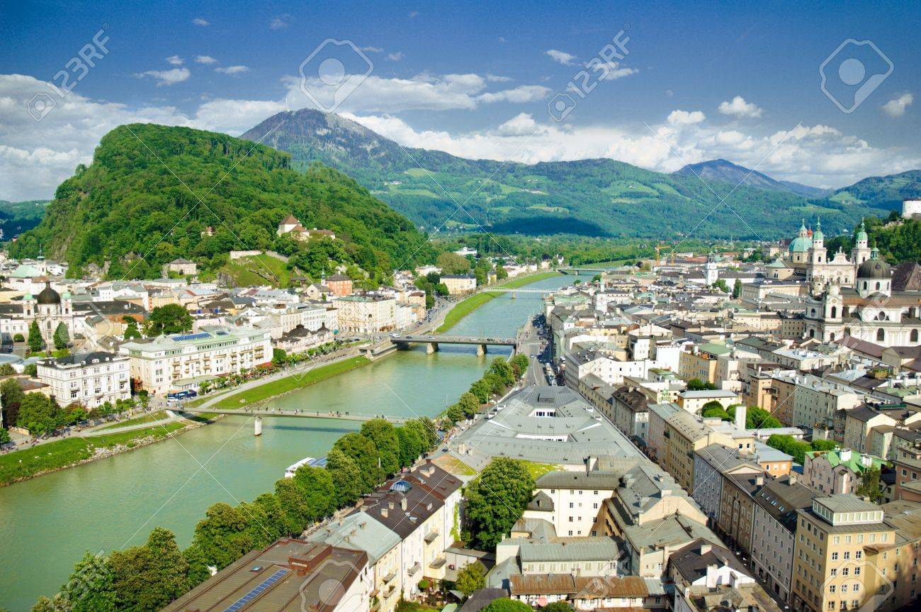 Panorama of Salzburg. Austria Stock Photo - 9785677