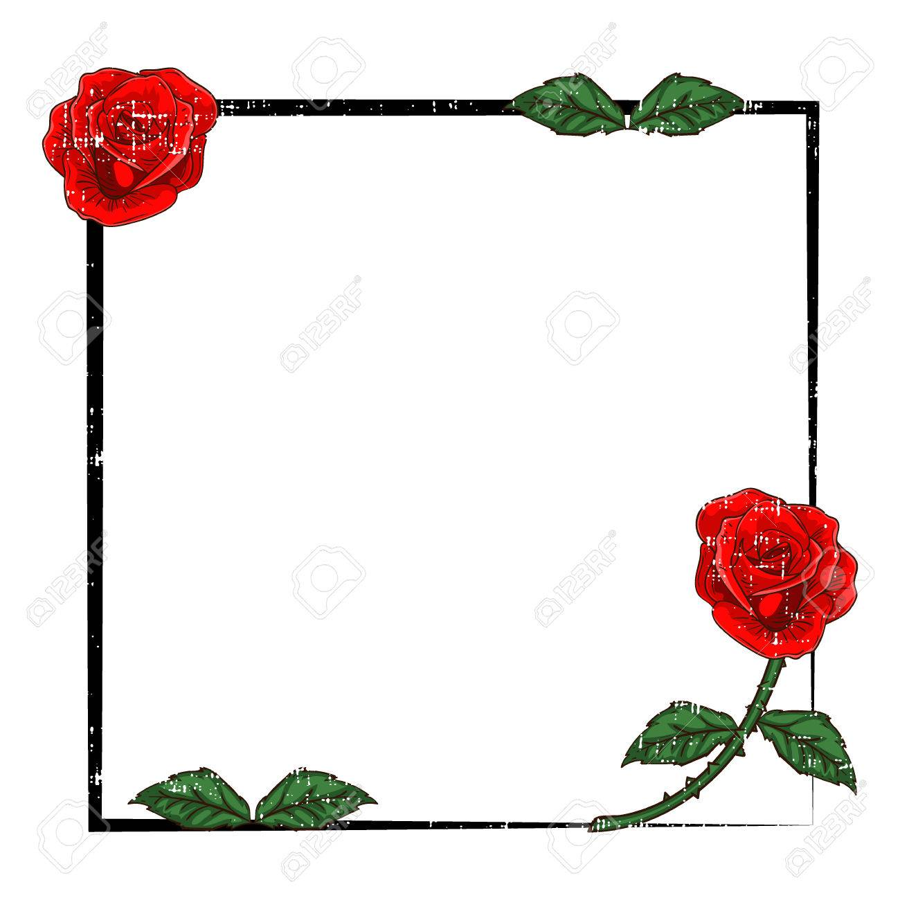 Rose Frame Royalty Free Cliparts, Vectors, And Stock Illustration ...